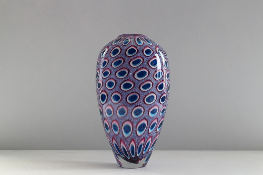 Aquamarine Windowed Murrine Vase.JPG