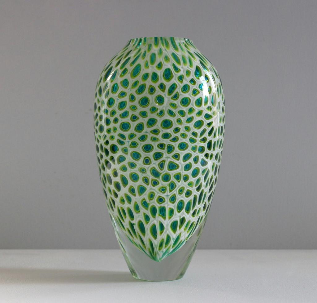 Copper Blue Micro Murrine Vase.JPG