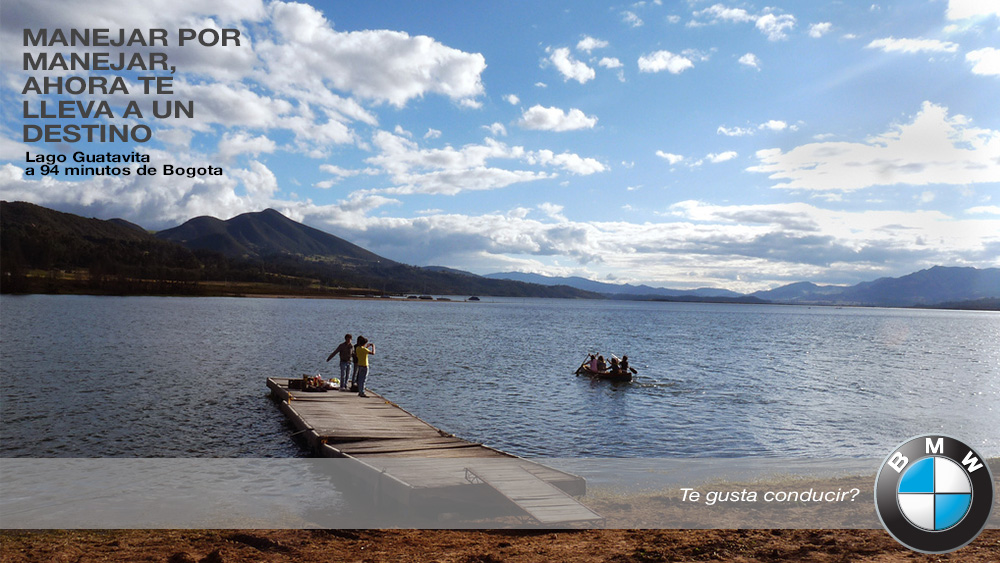"""Endless driving will never be pointless.  Guatavita Lake, 94 minutes away from Bogota"""