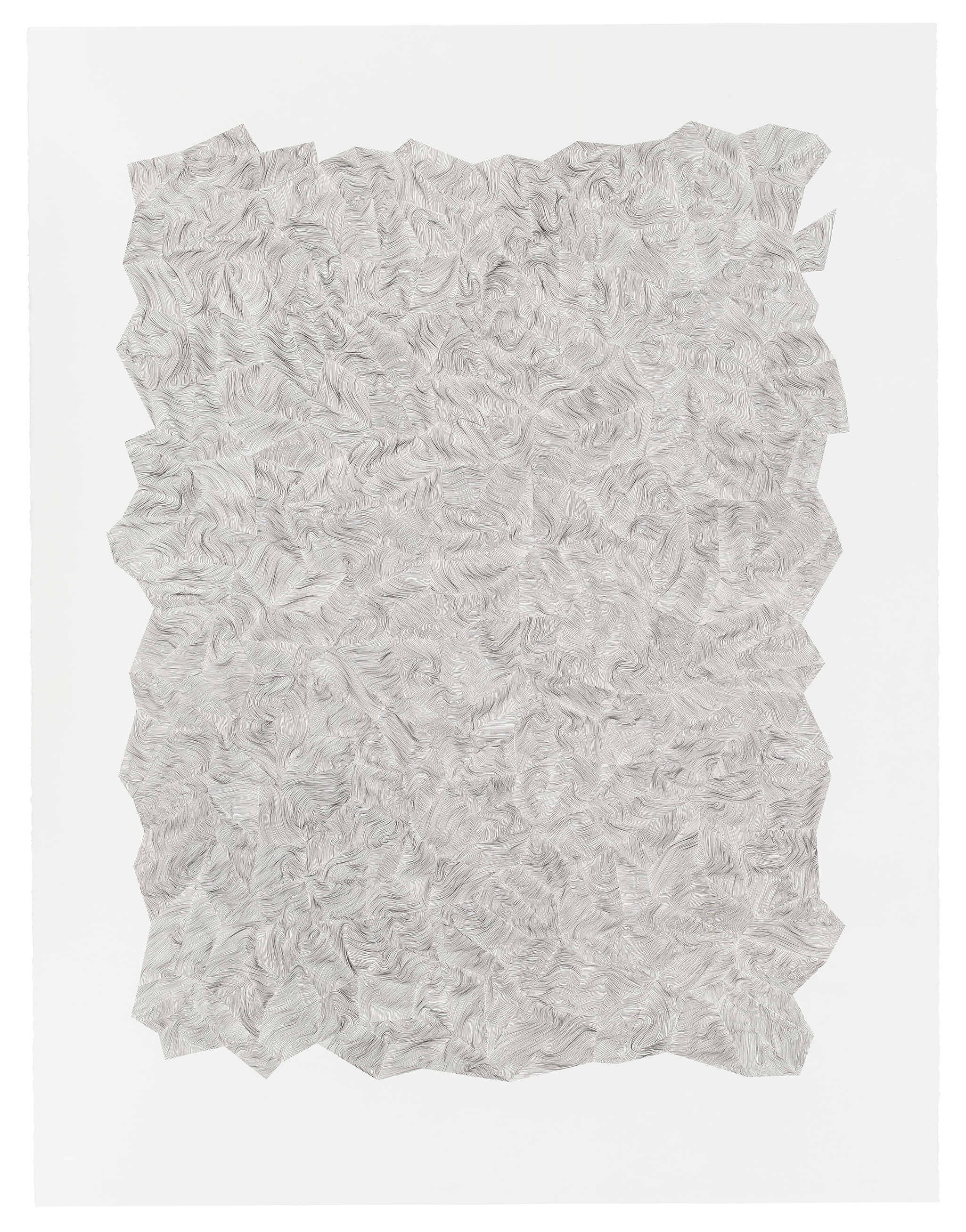 In the Contours of Time , 2014, Ink on Paper, 40.5 x 52 inches [framed size]
