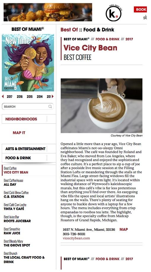 Miami New Times Best-Of-Miami-2017-Vice-City-Bean