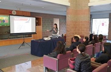 Connie Tsai, Health talk in Pleasanton, CA.