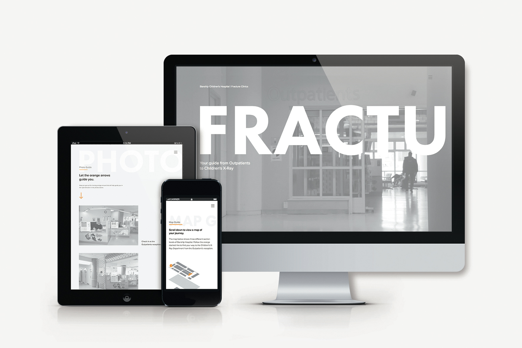 Fracture Clinic   An undergraduate communication designer developed an online resource to help patients find their way around the fracture clinic.