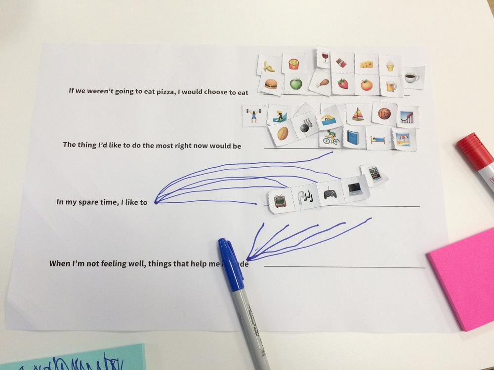 'Emoji Stories' activity