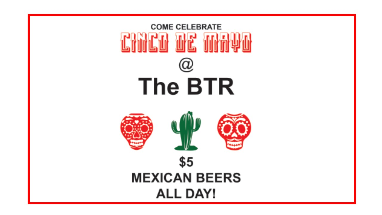 Grab some grub next door at Los Tacos and enjoy $5 Mexican style craft beers all day!