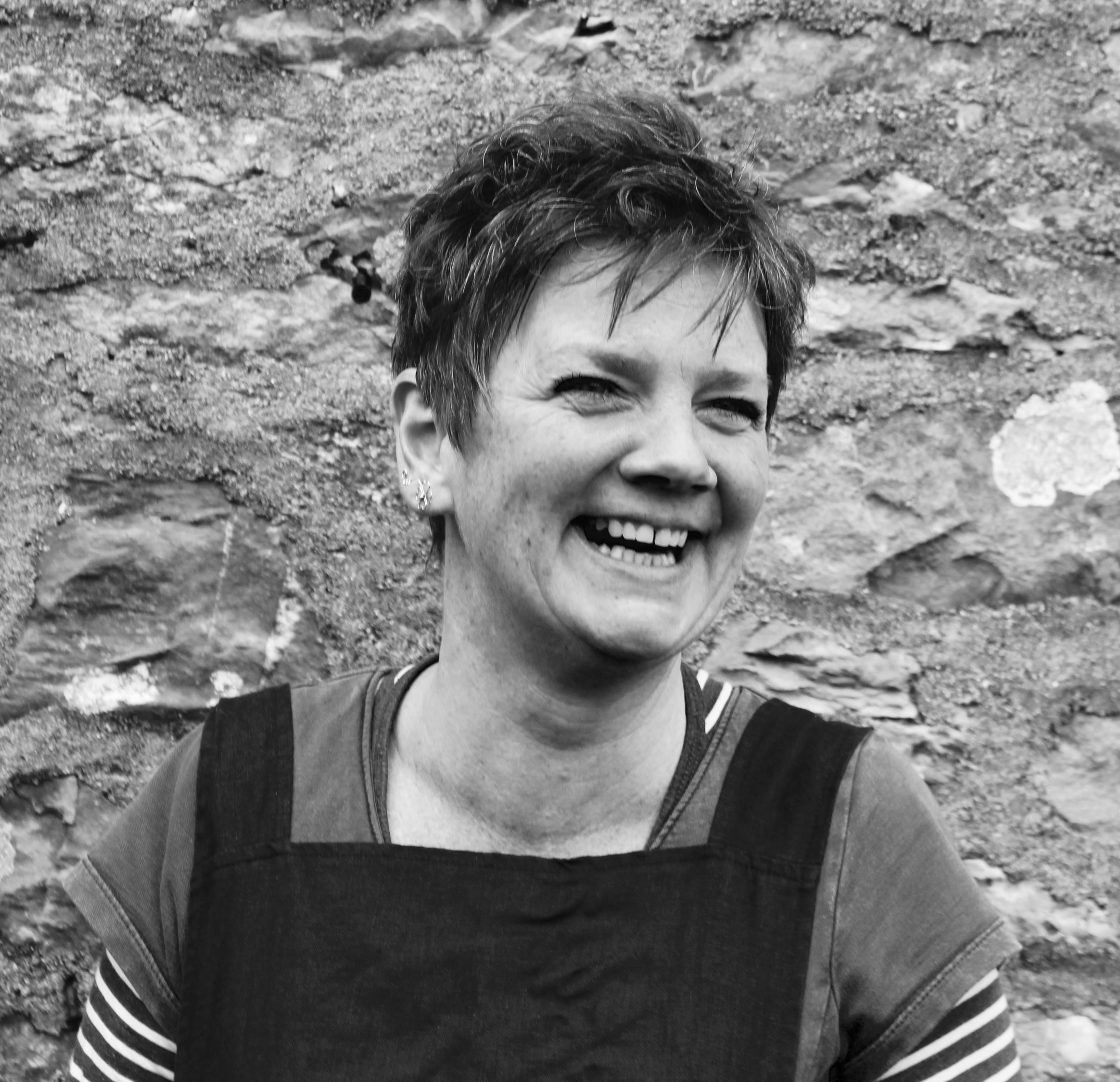 """Richenda MacGregor  Creative Director  Richenda Macgregor is the creative director of studio 45. A potter for 25 years, she also spent several years running a teaching centre for ceramics. Richenda is passionate about Making and passionate about ceramics in general. Constantly learning, this quality of engagement is reflected in her enthusiasm and thorough teaching style. She has successfully trained 4 apprentices over recent years and teaches and facilitates at Schumacher College. Studio 45 is the culmination of a long held vision finally coming to fruition. Richenda lives in Dartington with her partner Andrew and makes porcelain thrown ware in the 'shed' at the bottom of the garden.  """"It is important for us to begin to investigate our heritage and to discover or rediscover the materials that are left unused on our doorstep. So much of the raw materials Artists and Craftspeople use has travelled unnecessarily or has been mined in atrocious working conditions. We re-empower ourselves when we change our working practice to include local materials harvested sustainably and begin to produce work indigenous to the environment and place we live in."""" (Richenda)"""