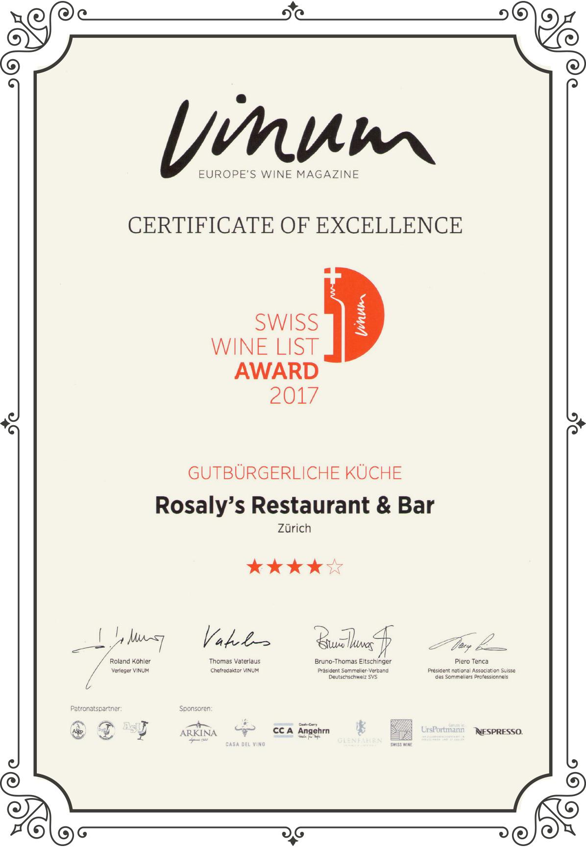 vinum-wine-award-2017-rosalys-restaurant-bar-zürich