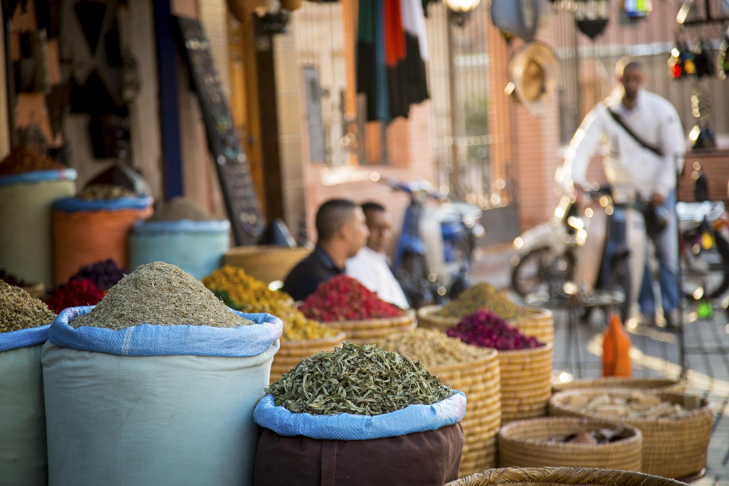 Herb alley. Medina, Marrakech