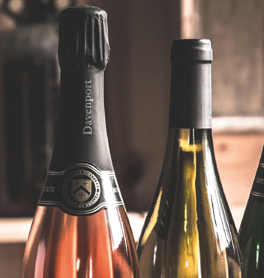 Davenport Vineyards    - Product photography, collateral design, concept development   Davenport Vineyards is one of the oldest organic wine producers in the UK supplying London's Michelin Starred restaurants. Travelling man created a new brand image set as well as collateral design