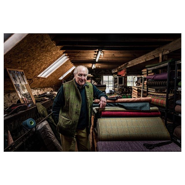 Gordon Covell, Owner of The Islay Woolen Mill. Islay, Scotland.  Useful place to shoot when you've just lost a sock to a bog. . . . . . #scotland #hiddenscotland #skye #trappingzones #outside_project #wonderful_places #wildernesstones #moodygrams #visitscotland #scotspirit #lensbible #isleofskye #isleofskyescotland #isleofskyeofficial #islay #portrait #wool #tweed #portraitphotography