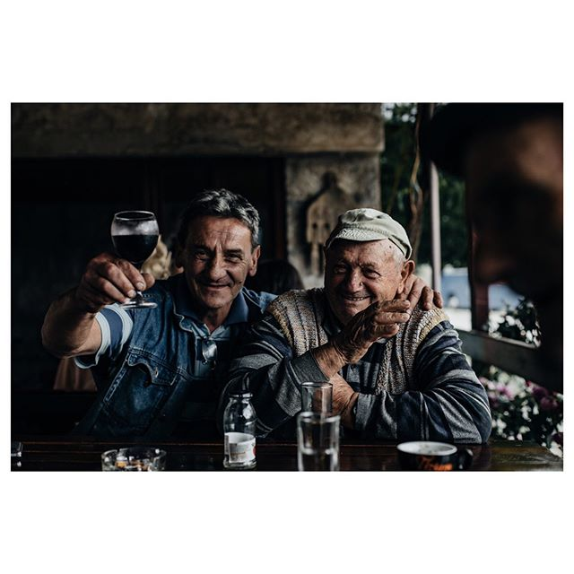 Bosnia; Vineyard nr Trebinje  If I'm half as happy as these guys at their age, with what they have been through, I'm doing something right. . . . . #bosnia #balkans #portrait #portraitphotography #vineyard #canon #travelphotographer #adventure #adventureisoutthere #vsco #getoutdoors #portrait_planet #wine #vscocam #exploreeverything #exploremore #optoutside  #travelphotography #wanderer #wanderlust #tagsta_travel #ig_worldclub #worldcaptures #worldingram #mytravelgram #bbctravel #natgeo #guardiantravelsnaps #travelingram #humanity_shots_