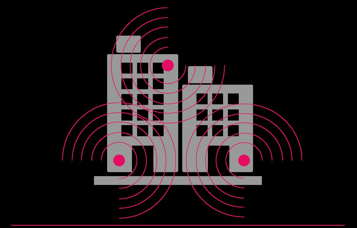 Uma rede sem fios gerida num edifício com vários inquilinos é uma rede partilhada que fornece acesso Wi-Fi a todos os inquilinos no edifício.