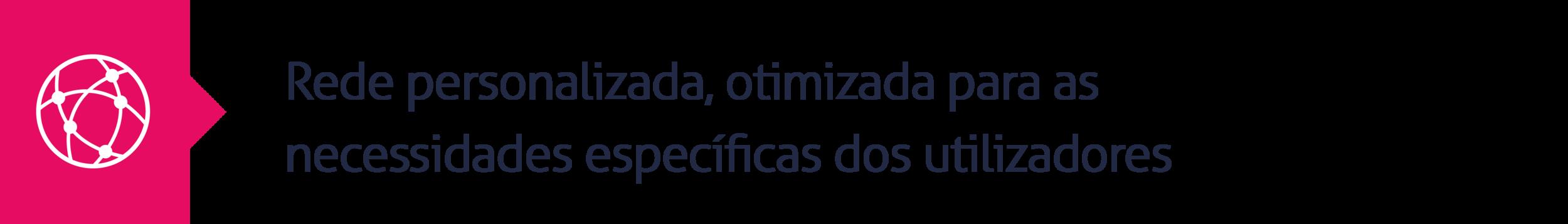 12.Rede personalizada, otimizada para as necessidades específicas dos utilizadores