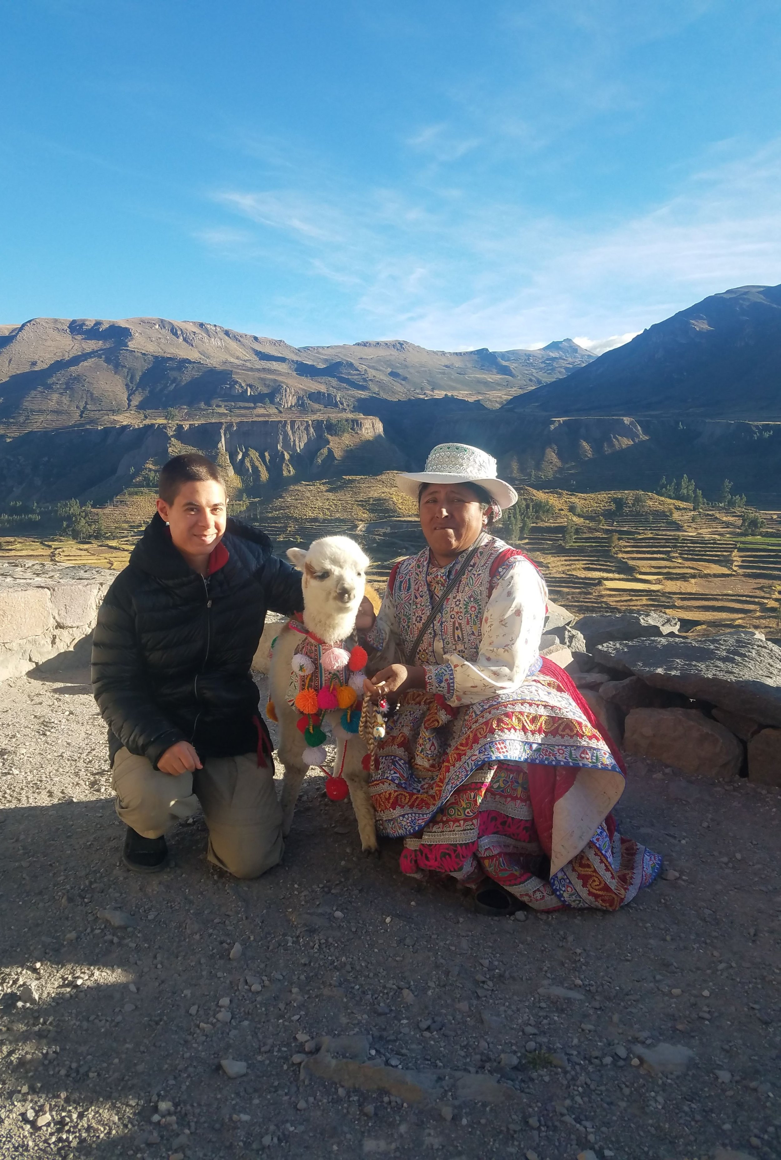 Meeting the locals near Colca Canyon.