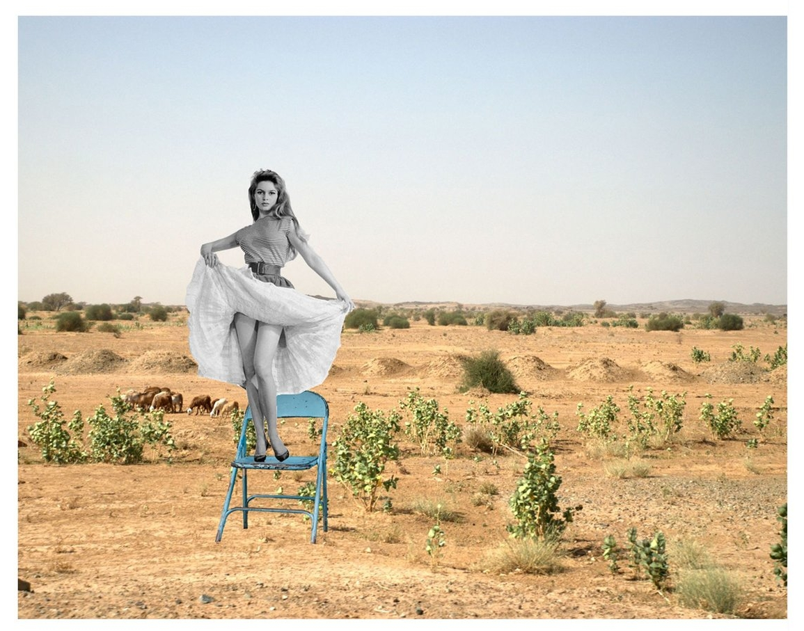 Levitation: Brigitte Bardot  digital collage, 30cm x 40cm, 2013.