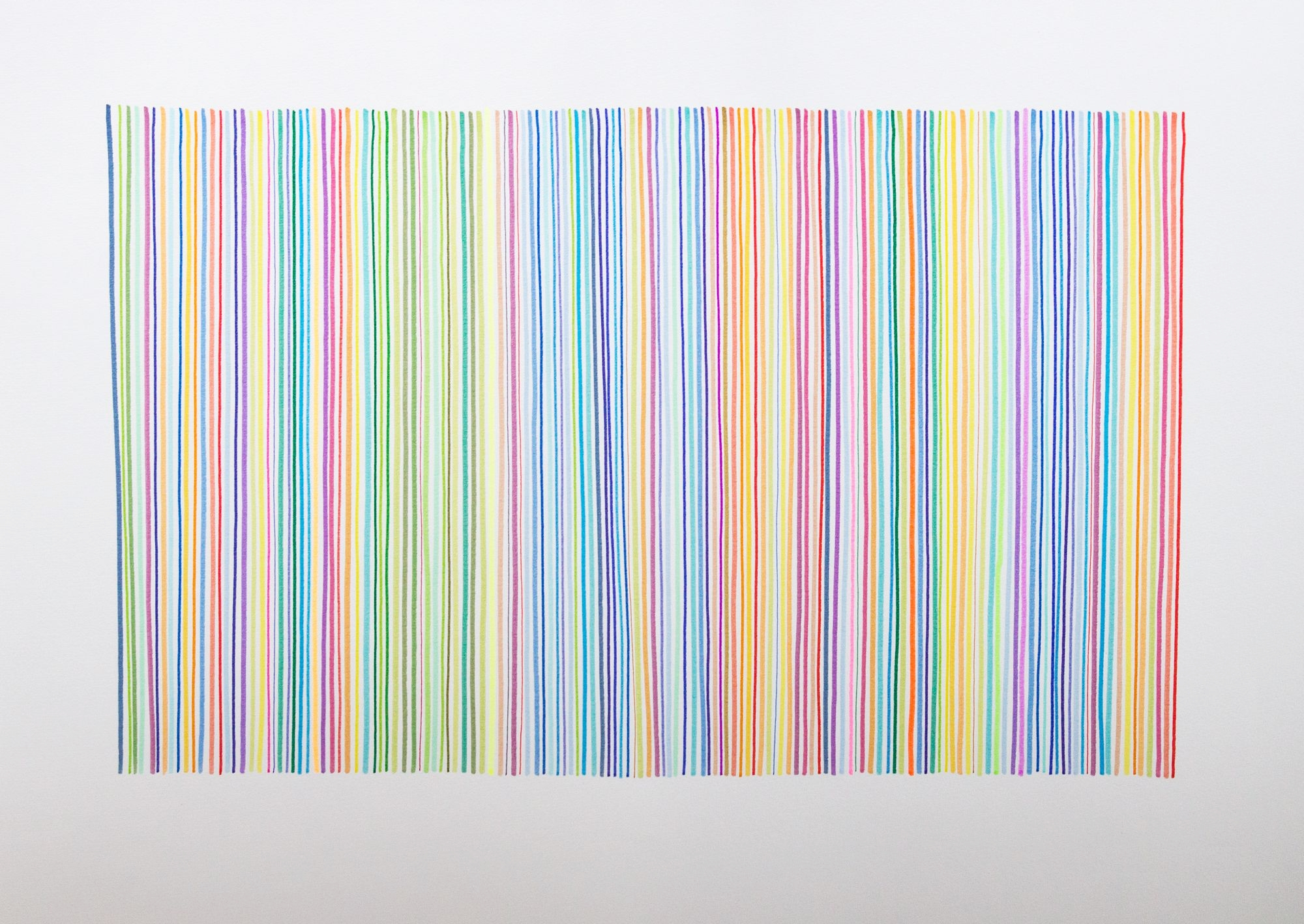 Code Series  Ink on paper, 84cm x 60cm, 2014.   Hand-drawn barcodes.