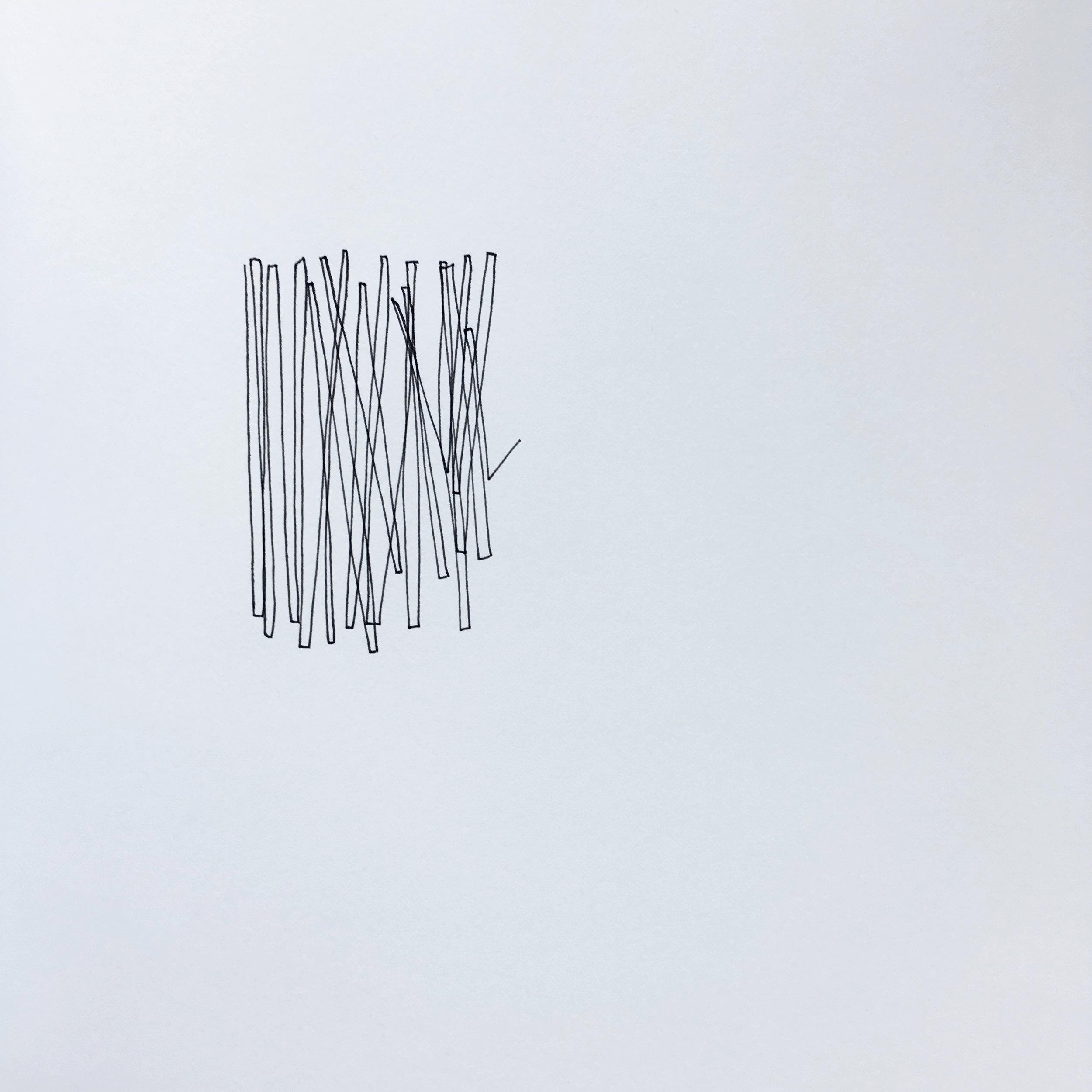 Vertical lines 1, 2016.