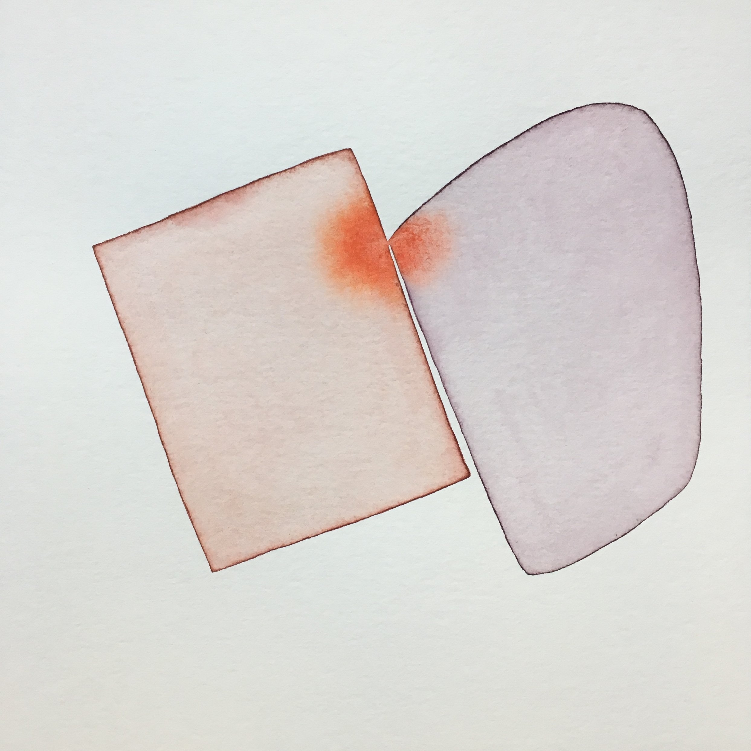 Geome series, watercolour, 30cm x 30cm, 2018.