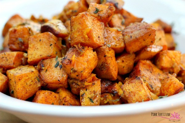 - Branch out into roasting veggies with turmeric herbs and EVOO with this super tasty easy recipe from Pink Fortitude