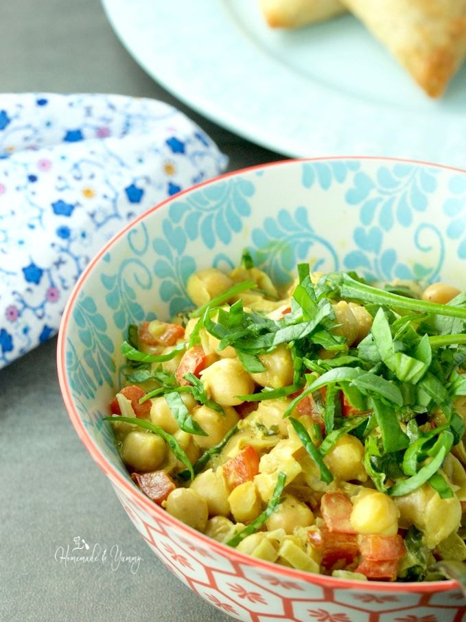 - An easy recipe for Vegan Chickpea Curry by Homemade & Yummy.