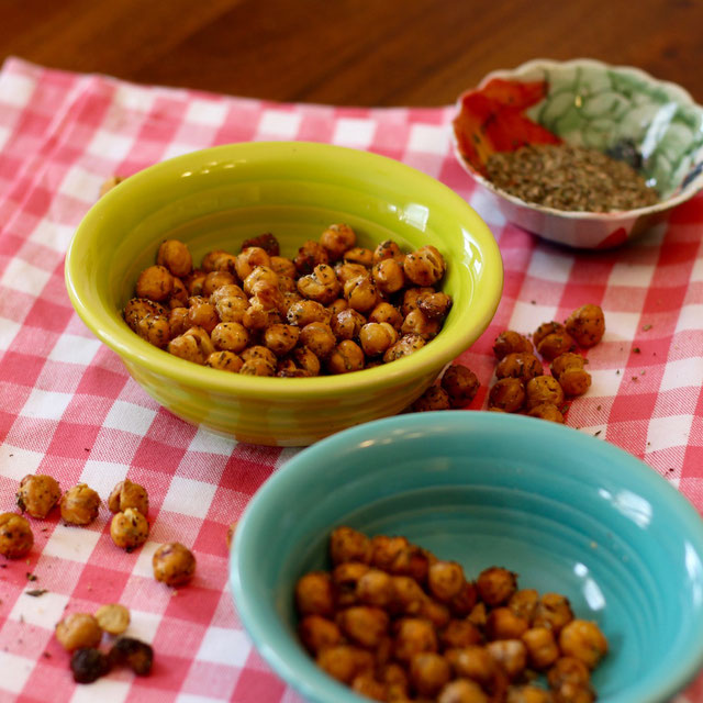 - Spiced Roasted Chickpeas by Amy Gorin, RD