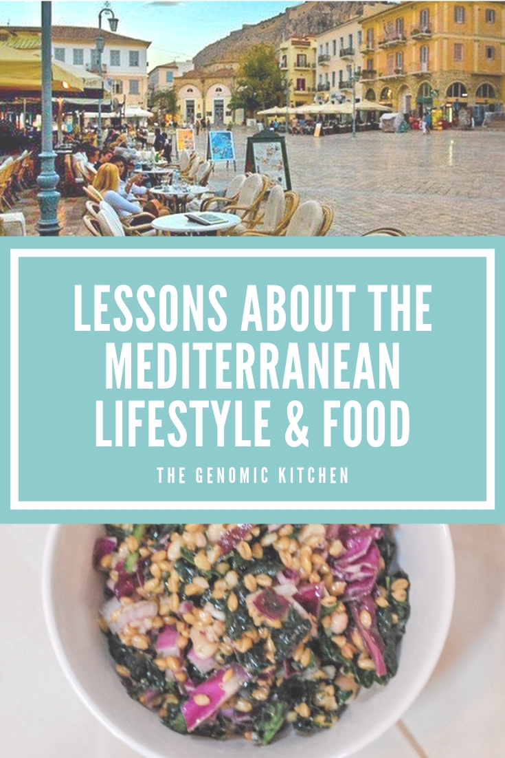 Lessons about the Mediterranean lifestyle and food