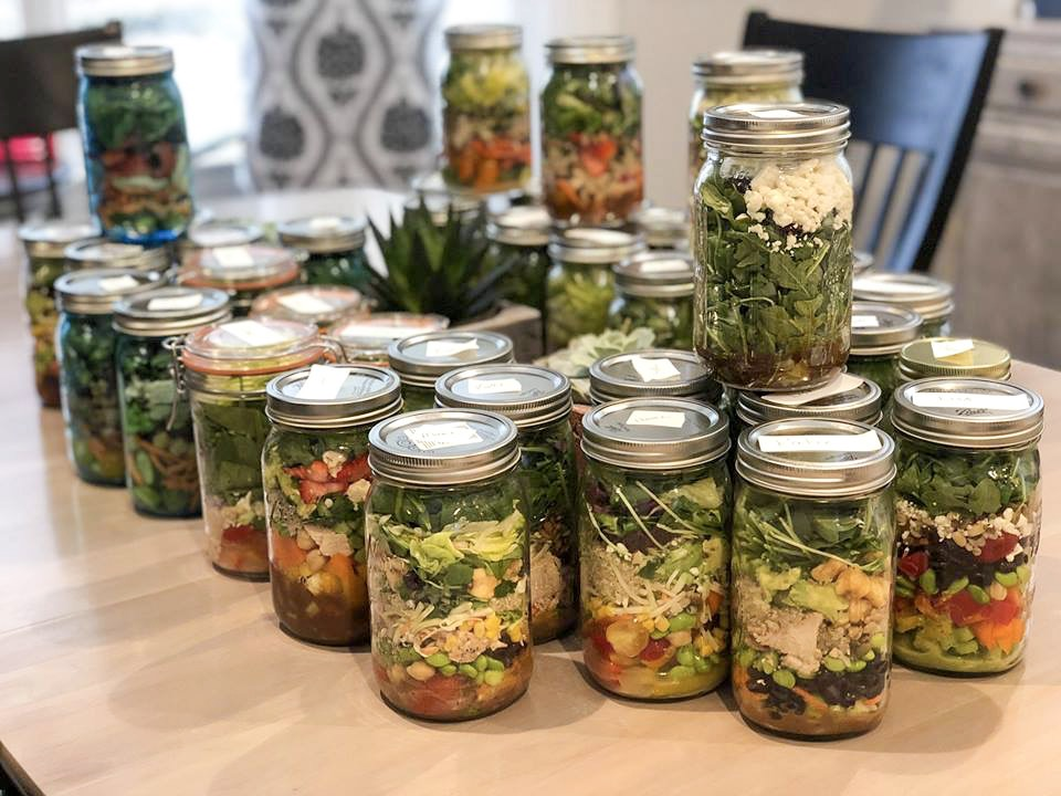 Salad in a jar event