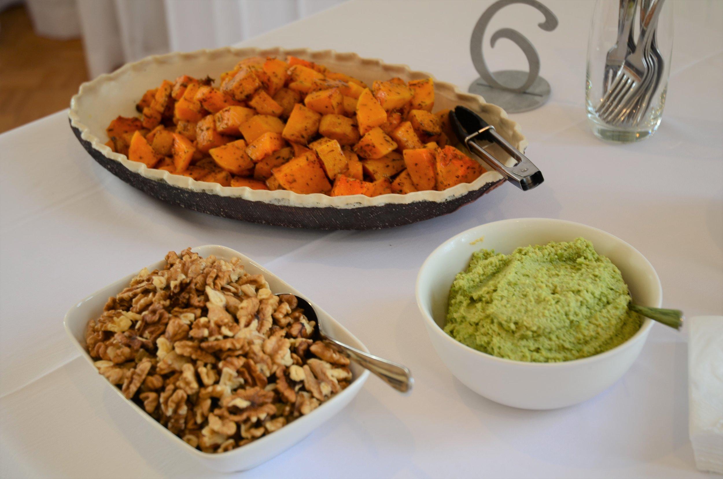 Spiced Sweet Potatoes Walnuts and Pesto