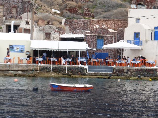 Greek taverns by the sea