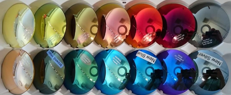 Mirror coatings in rainbow colors