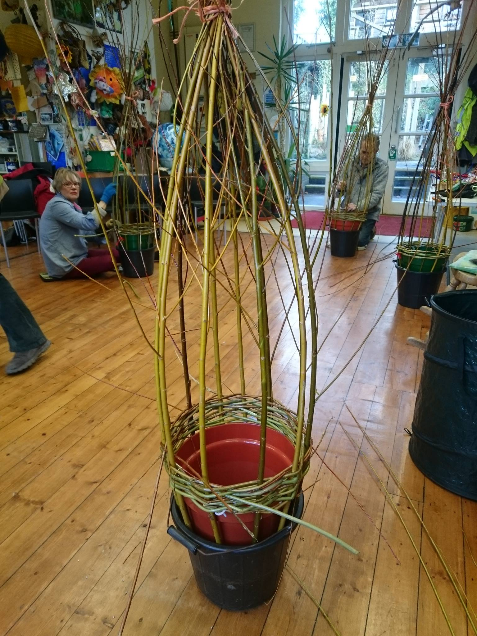 Willow Workshops for local community at Minstead Study Centre, New Forest, Hampshire