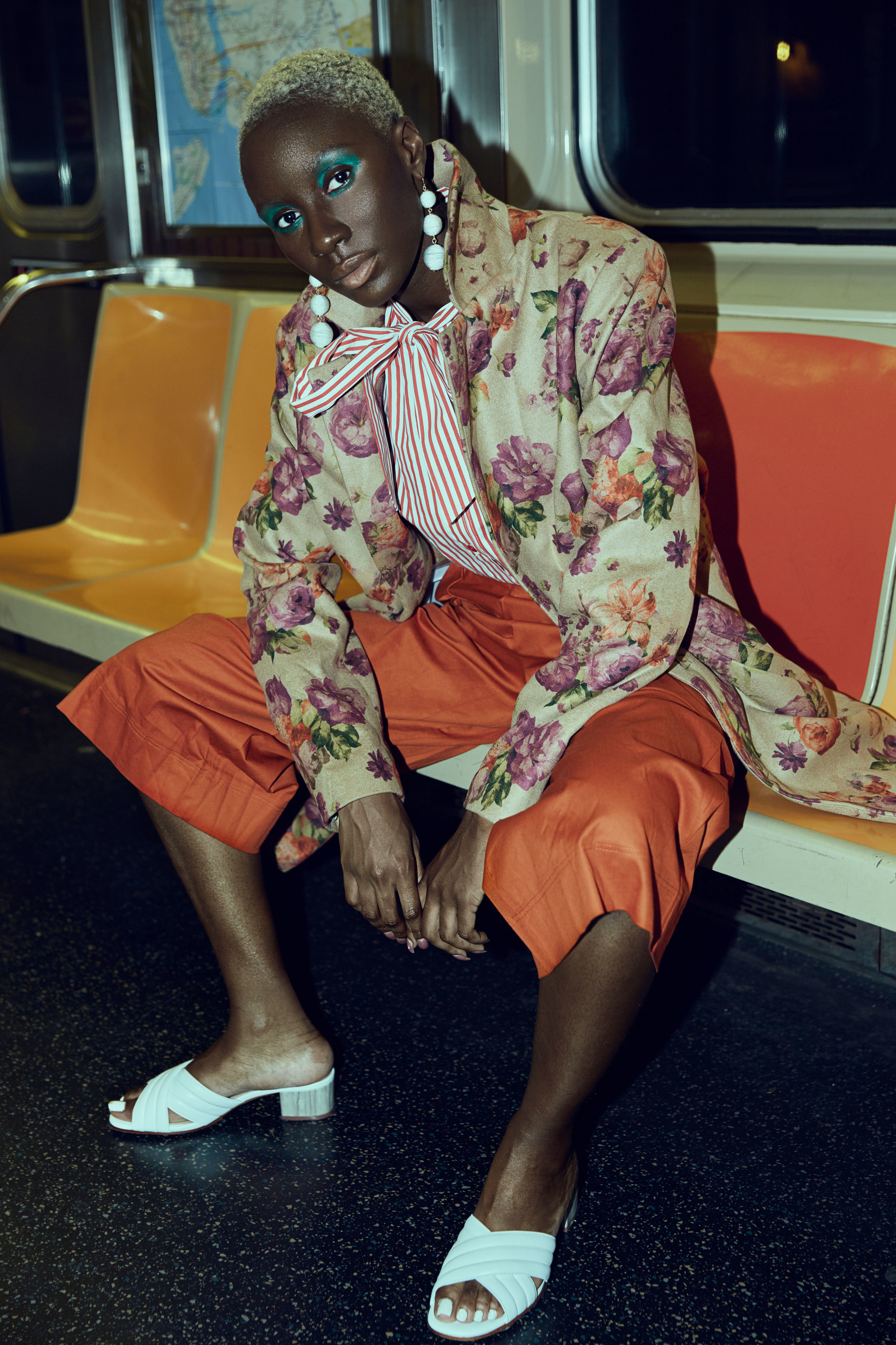 Coat: Asos  Top: Asos  Pants: Asos  Shoes: Antonio Melani  Earrings: Trends by New Direction