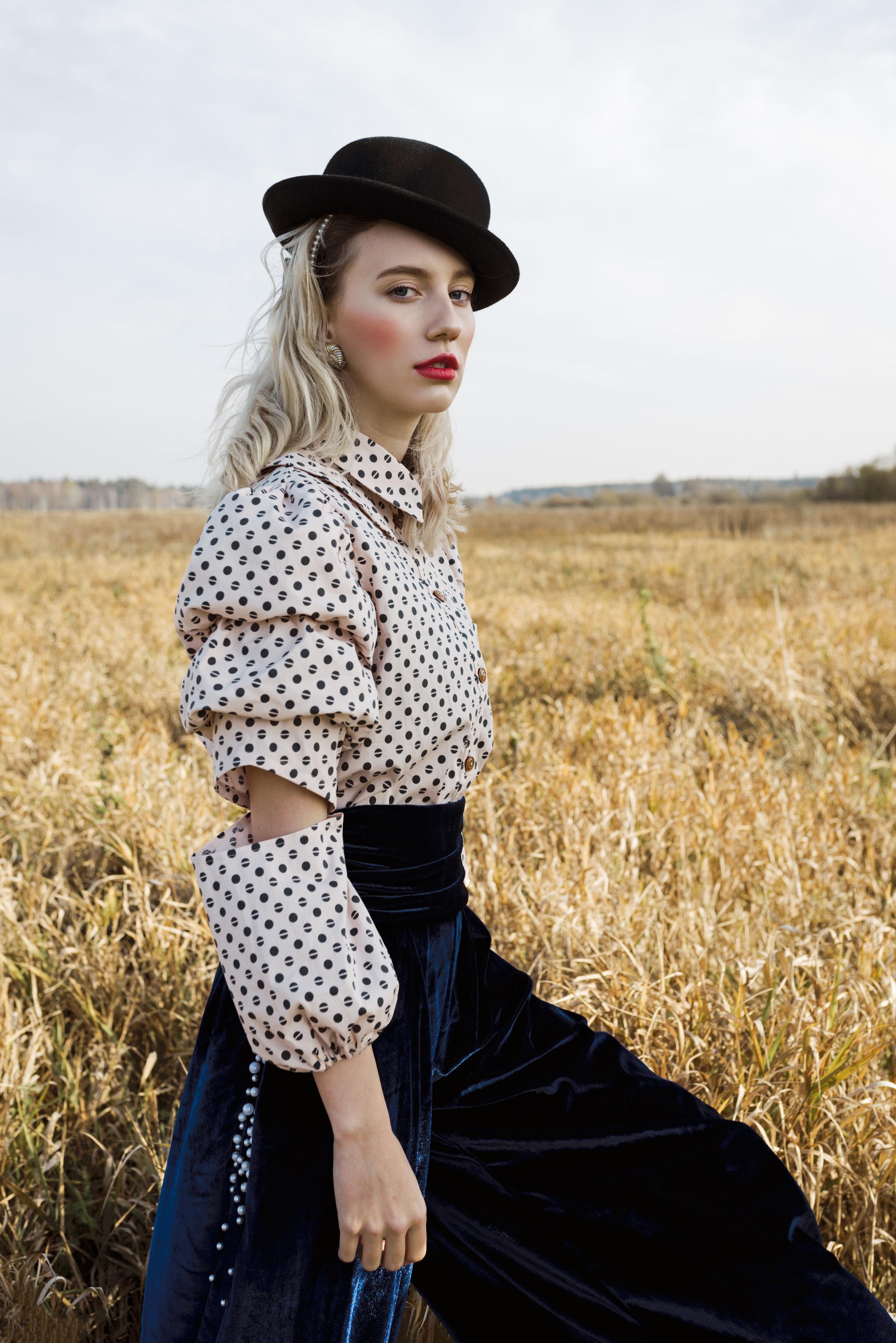 Pants - Okult Brand  Shirt- MoMi-Ko  Earrings - vintage  Hat - Zara