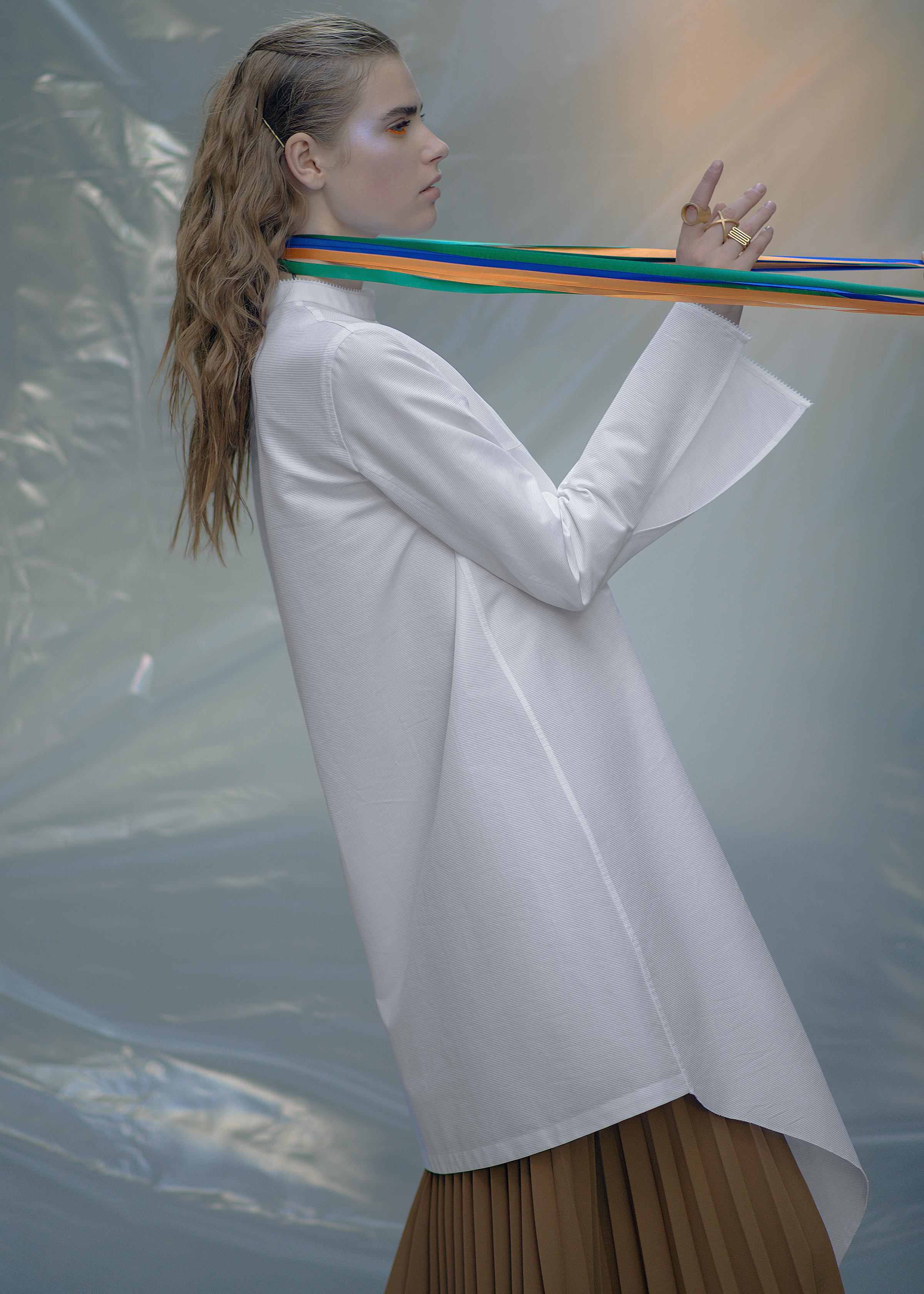 Dress PRZHONSKAYA Skirt FLOW THE LABEL Babushka Stylist's own Rings ABCDRINGS