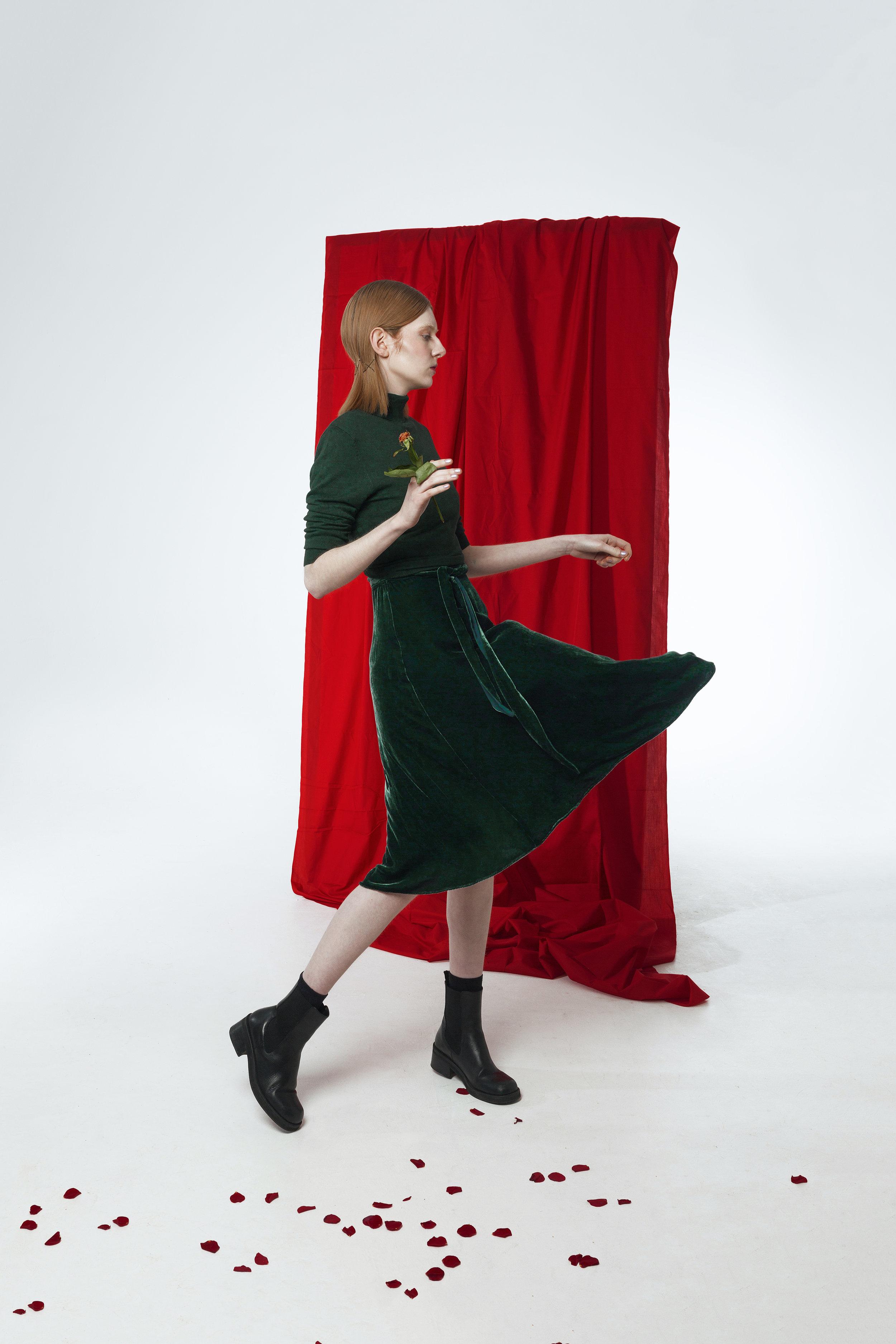 JUMPER / Zara  Dress / Laura Ashley  Boots / E8 by MIISTA