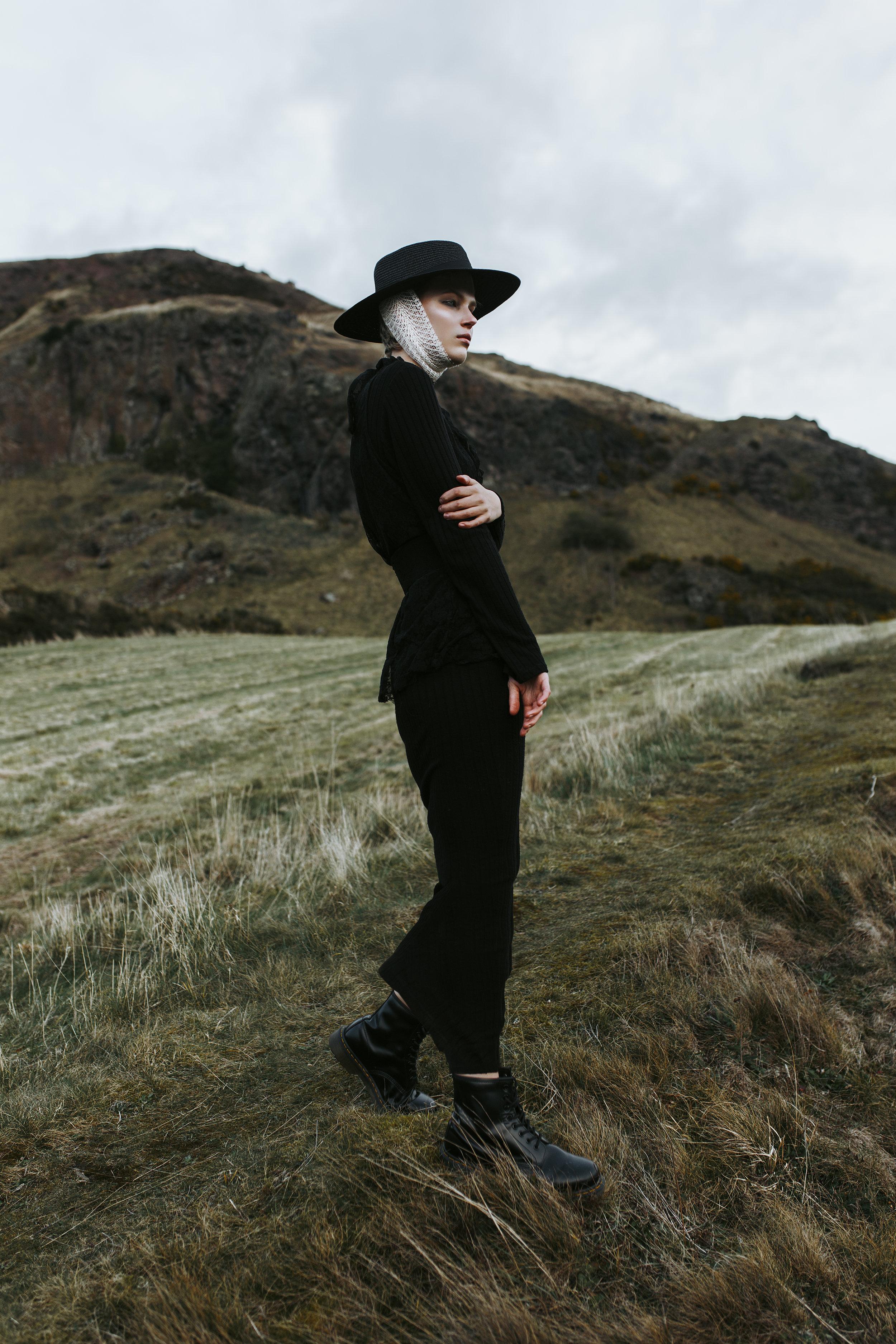 Hat / Village Hat Shop  Dress / Topshop  Lace Top / ASOS