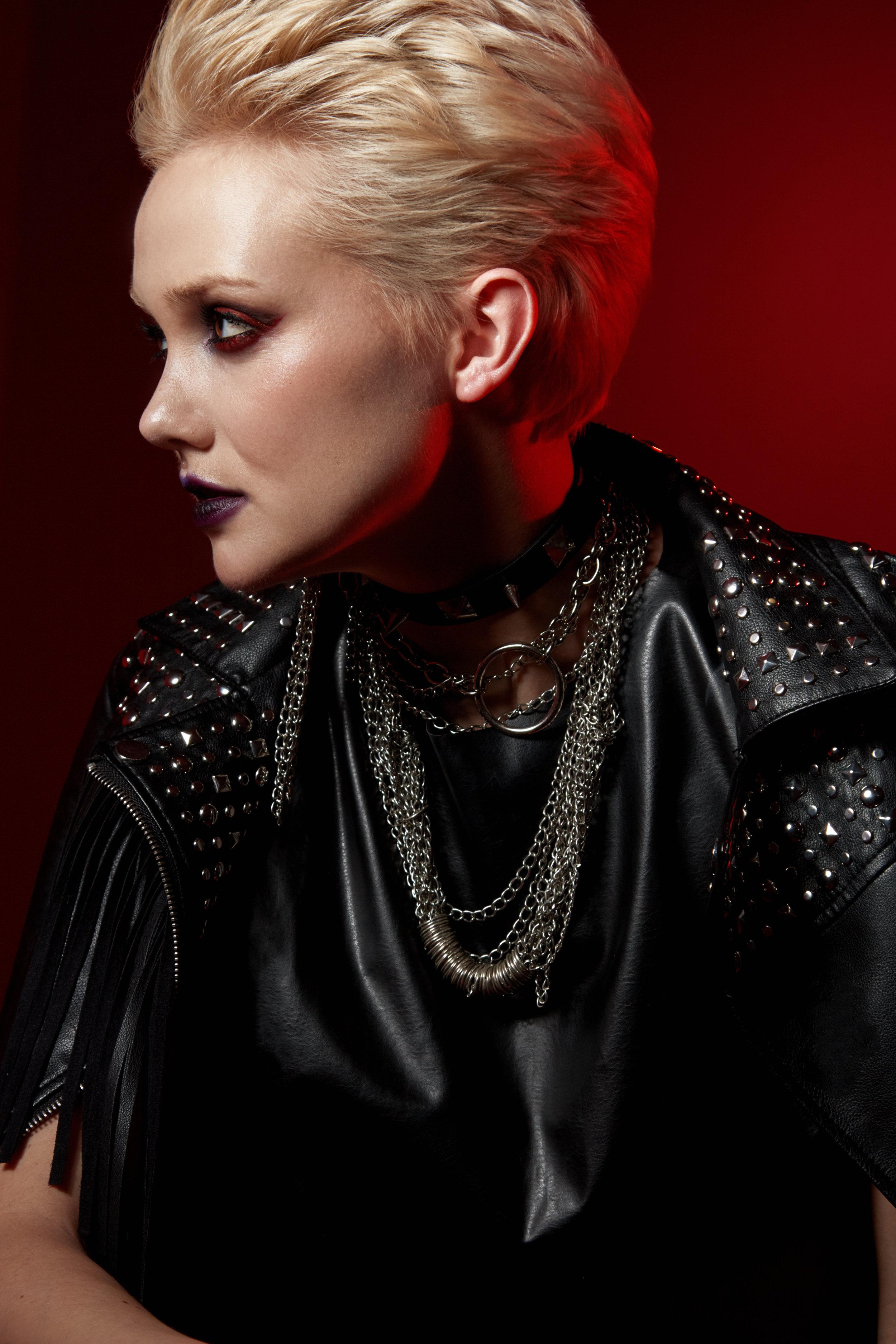 Leather jacket - Nadezda Sizova Jacket, Chains - Stylist property