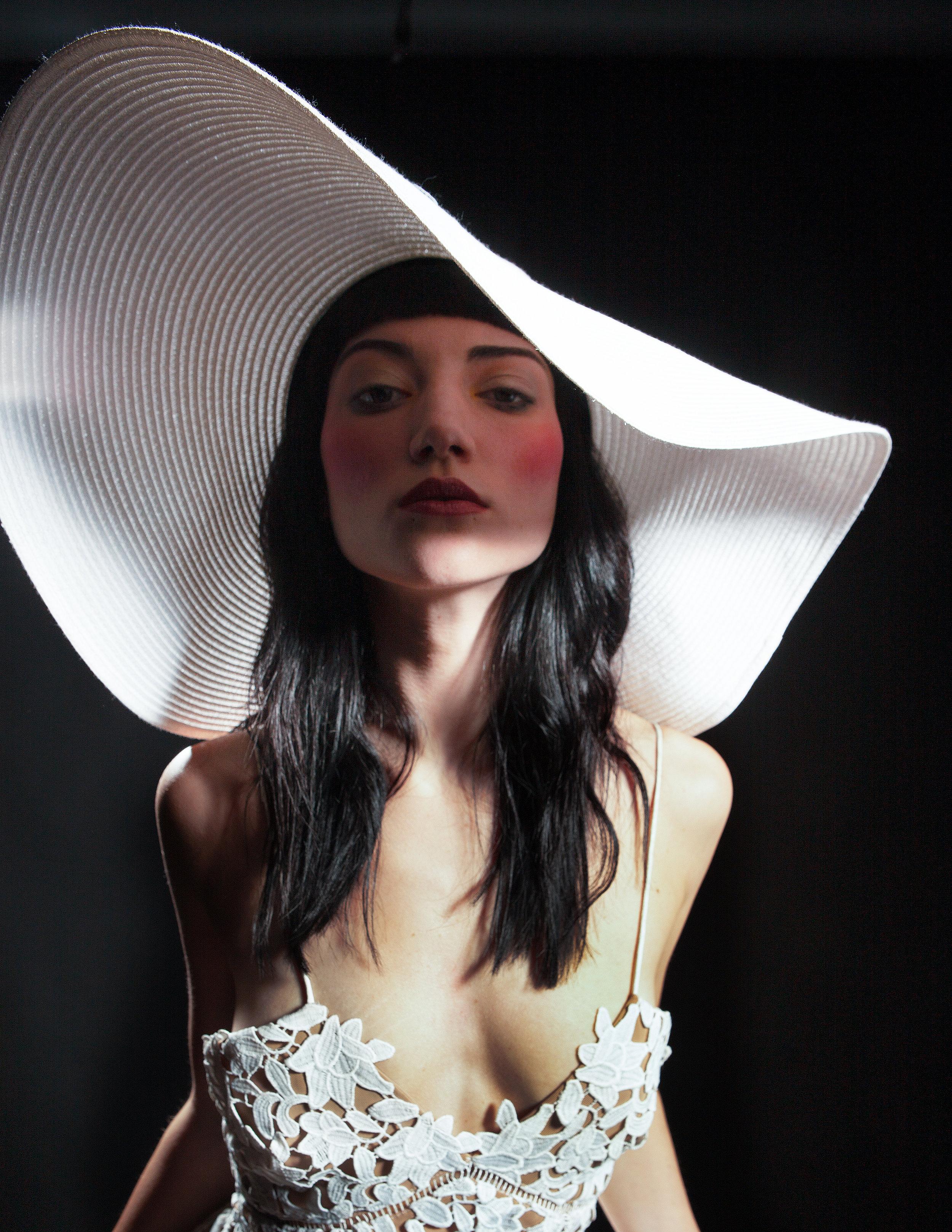 Dress: SELF PORTRAIT   Hat: LAWLIET