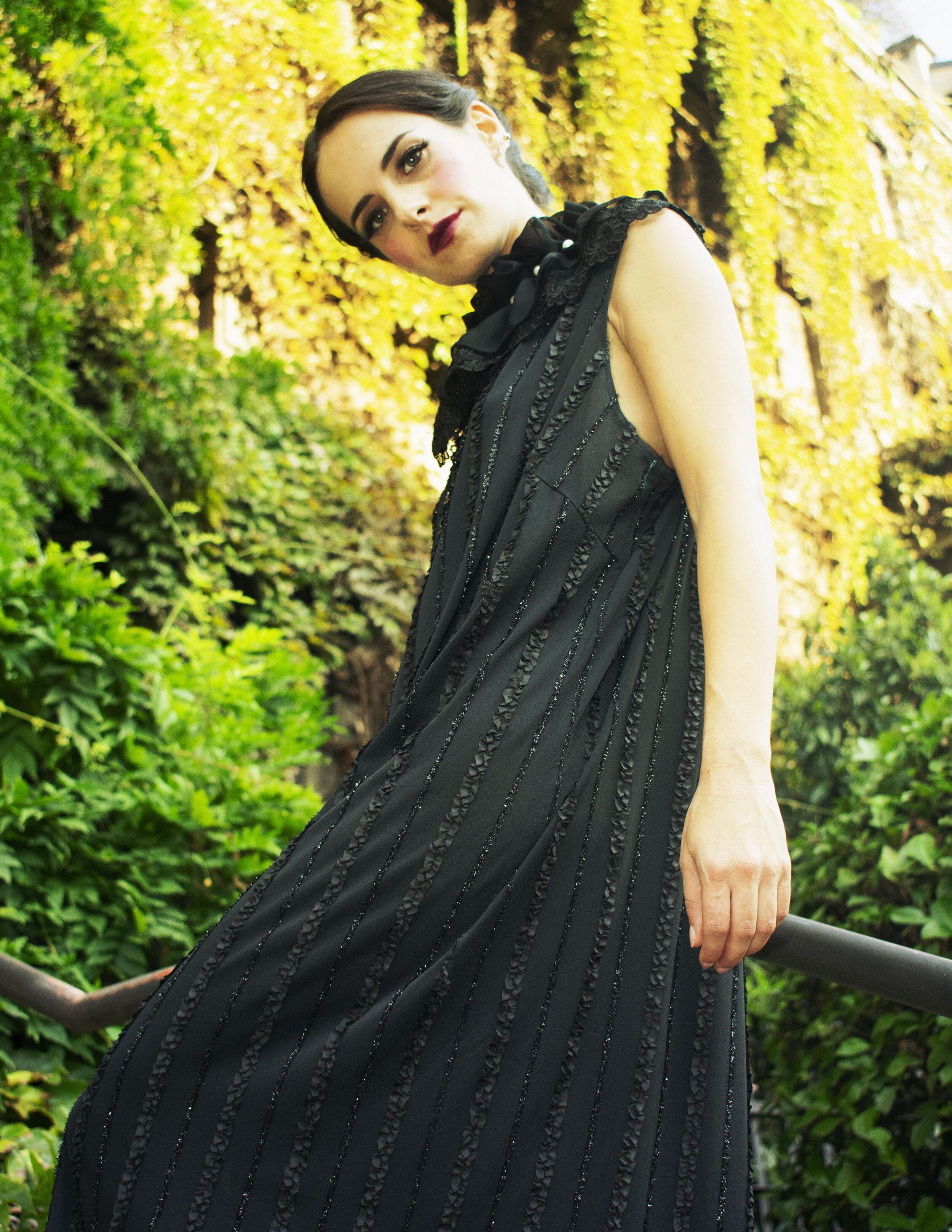 Vintage Dress by Humana Vintage Milan Accessories by Aldo