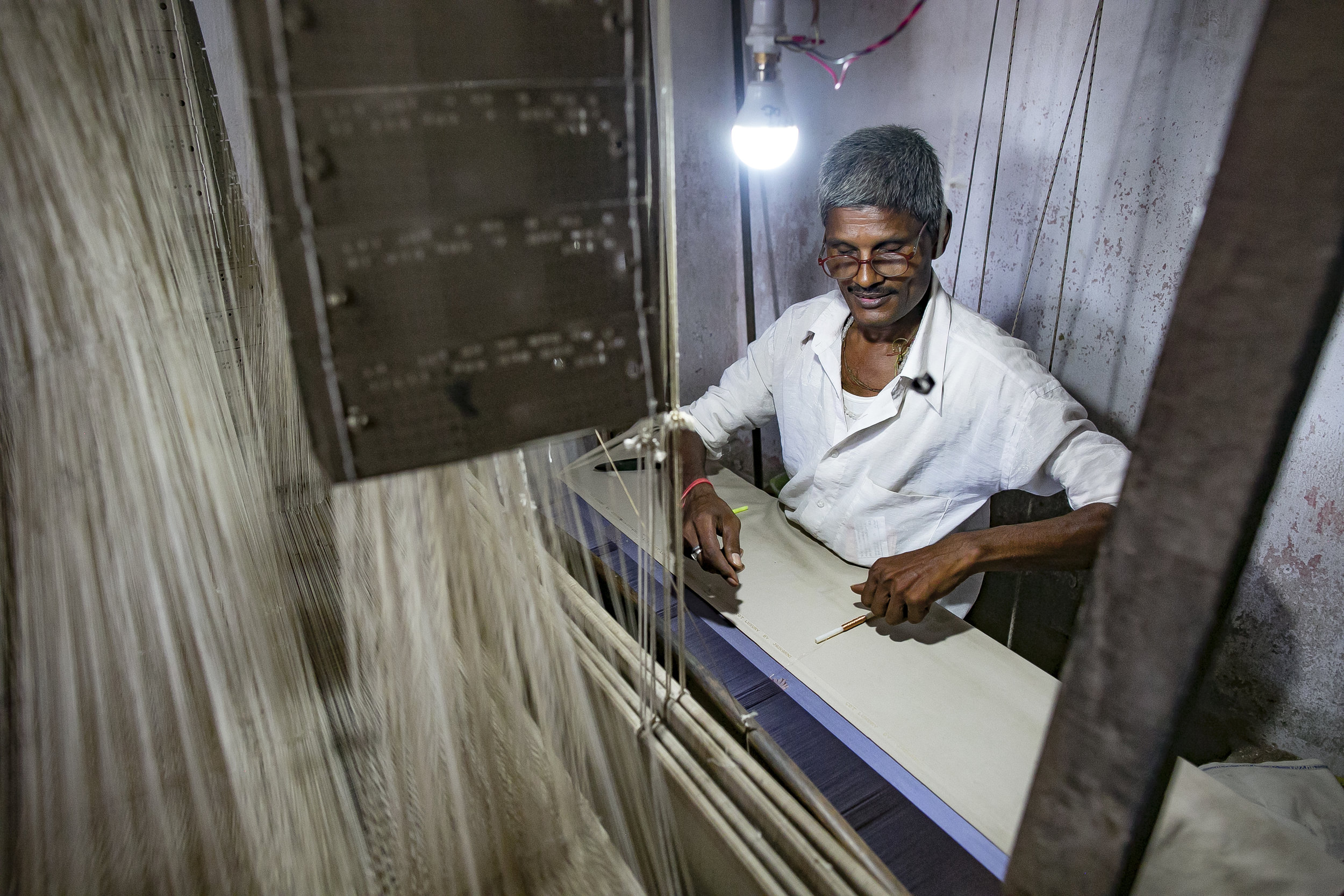 - Gopal works in his shop in Varanasi, India (image from another Traidcraft Exchange project). Credit: Traidcraft Exchange/Allison Joyce