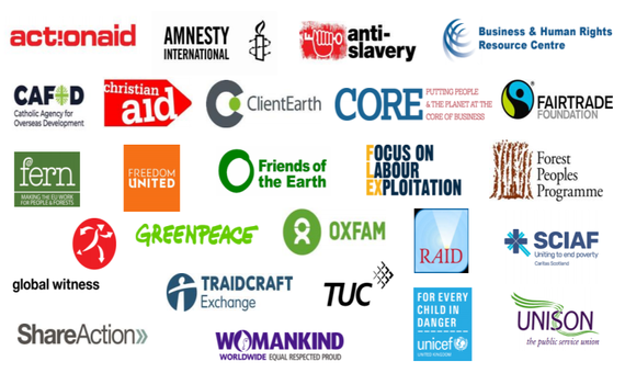The organisations calling for a UK law requiring companies to assess and manage their human rights risks