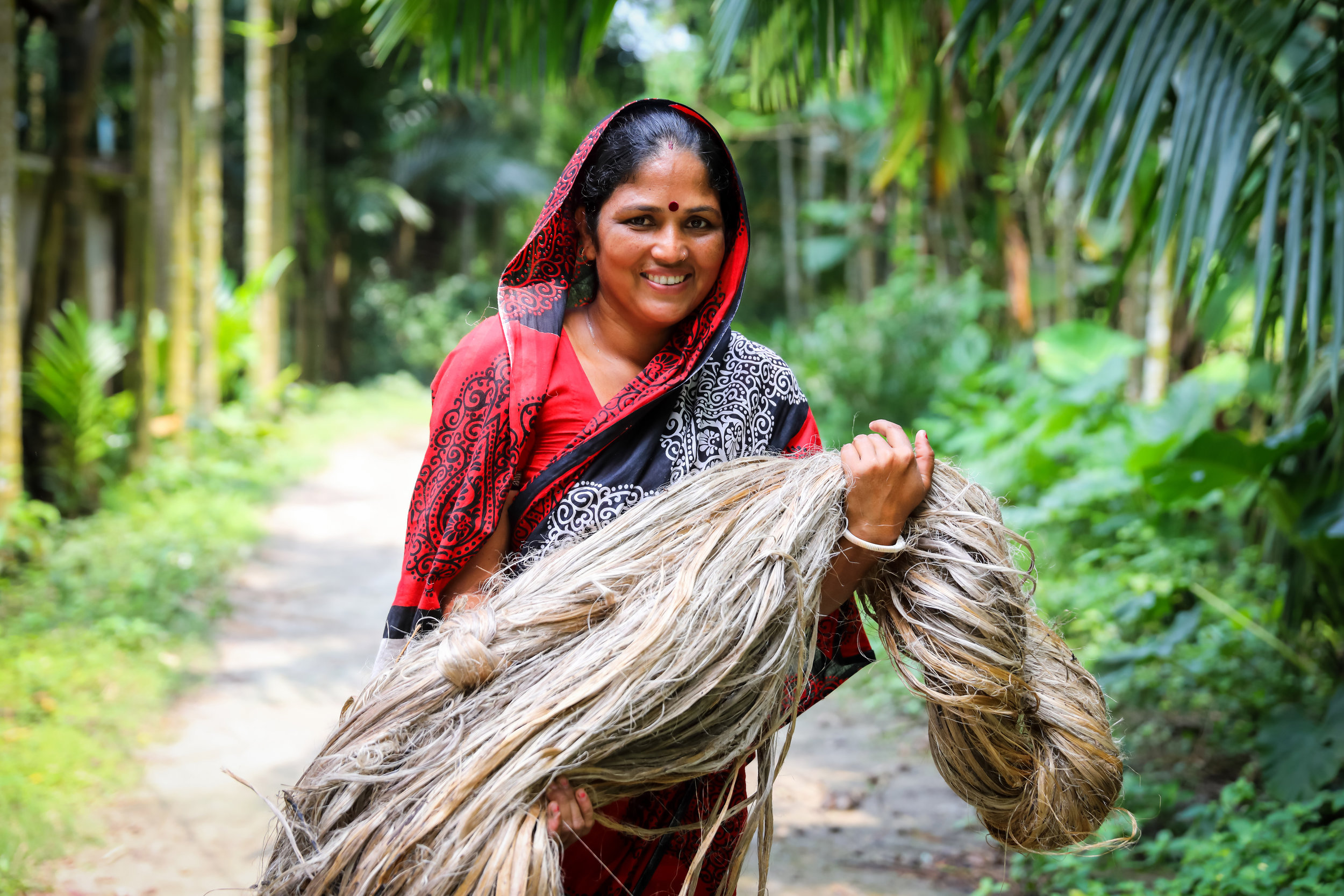 Portrait of Lata Rani das . Debidas pur, Moniramour, Jessore, Bangladesh. Photo credit: GMB Akash/Traidcraft Exchange