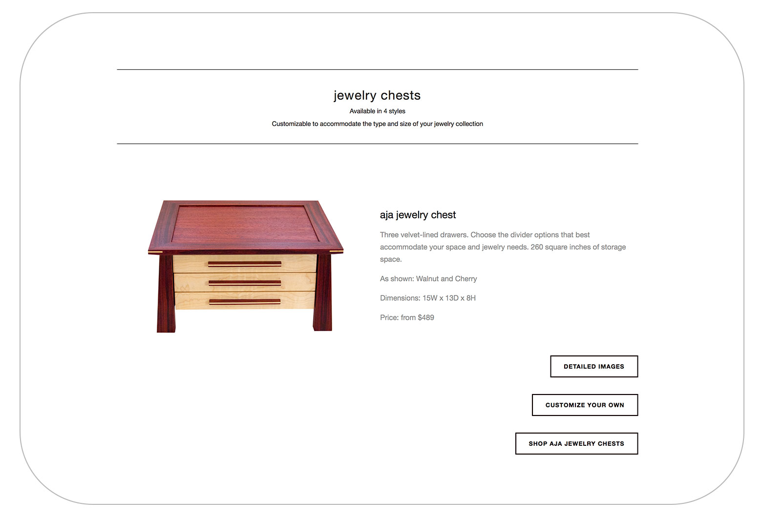 """1. Find your style. - Click """"SHOP"""" on the main menu and choose the type of box you'd like (jewelry, watch or stuff)Next to your preferred style click """"CUSTOMIZE YOUR BOX"""""""