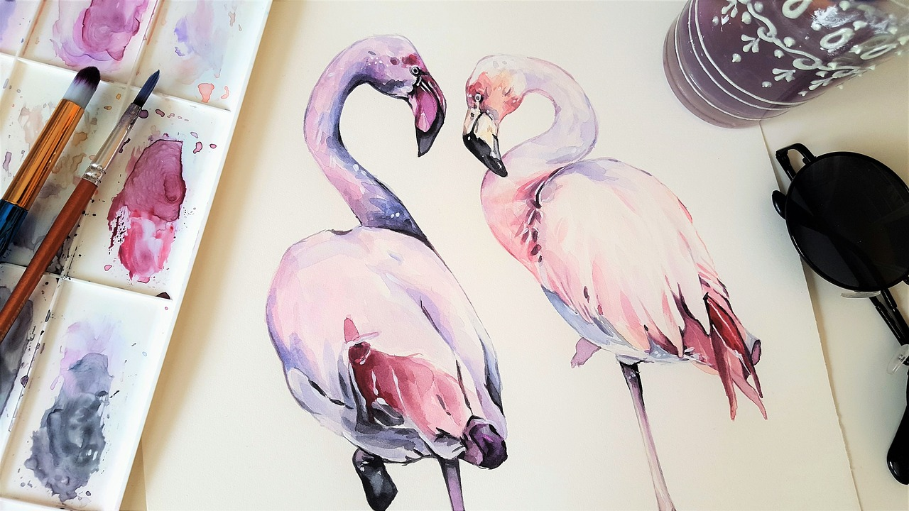 Flamingos are cool. Here's some of those...