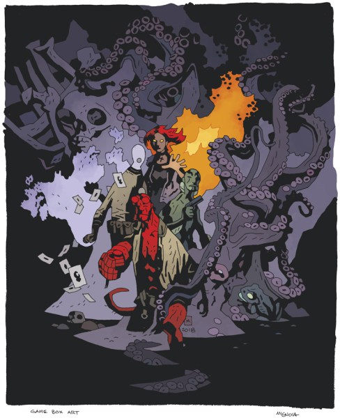 Did you know that Mike Mignola himself has done a bespoke piece of artwork for the game box? Phwoar.