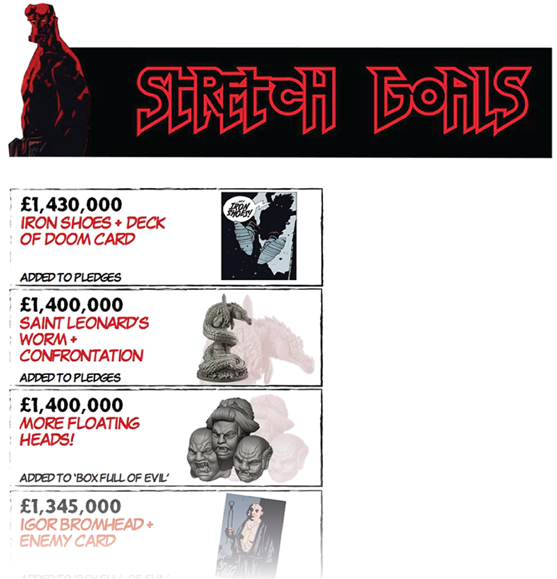 Oh yeah, that £1.5 million Kickstarter that had approximately seven billion stretch goals! That'd be it.