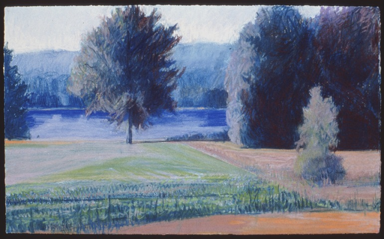 """Blue River   Pastel, 15x22"""", 1994"""