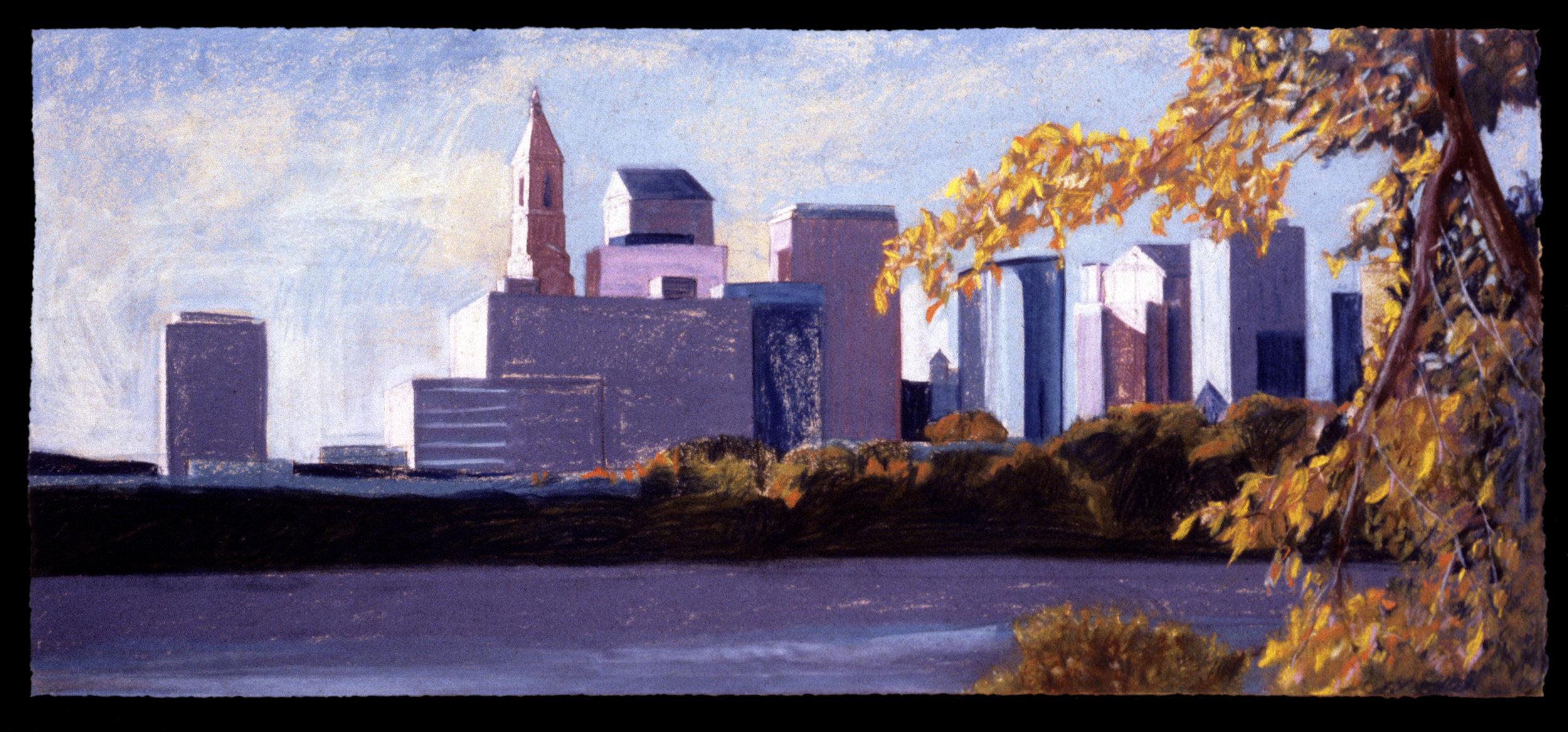 """The New Jerusalem   Pastel, 22 ½ x 47"""", 1997"""