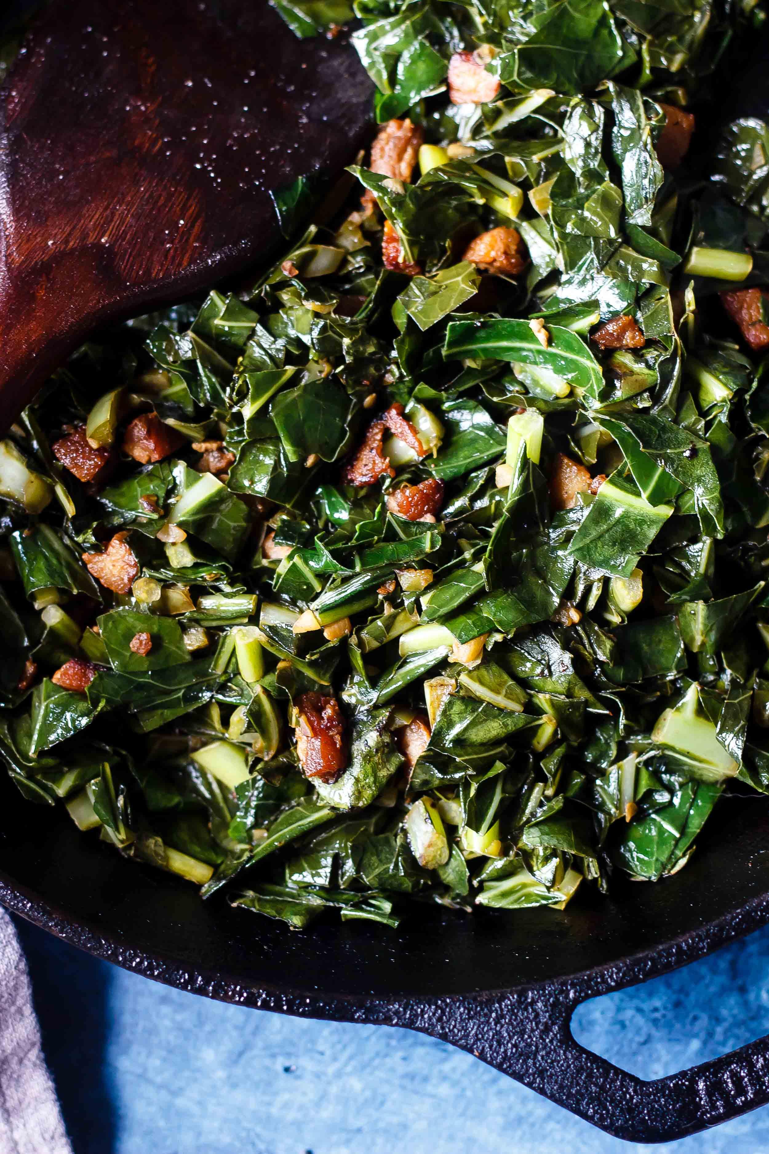 Spicy Pork Belly Collard Greens