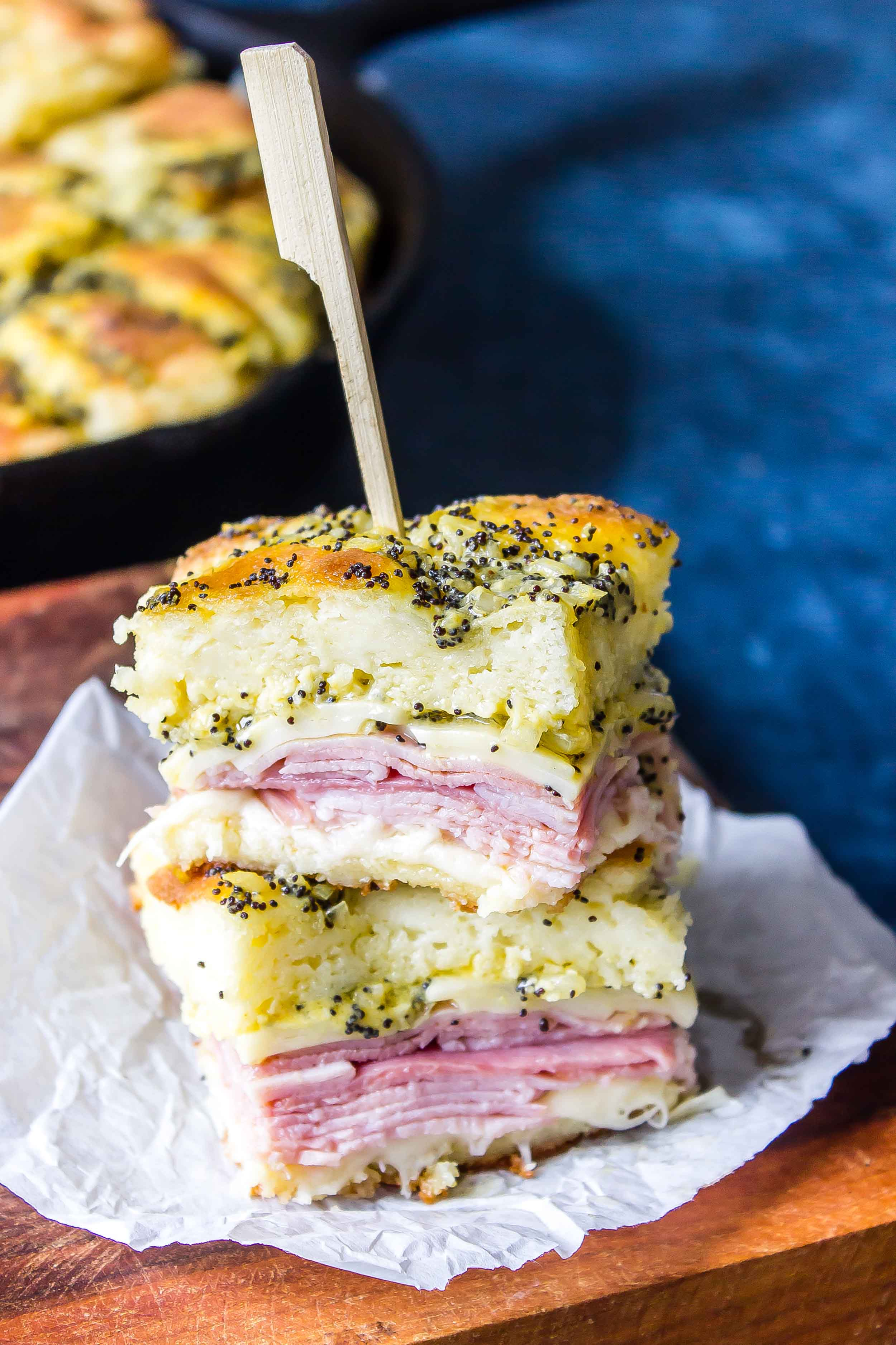 Keto Ham and Poppy Seed Sliders